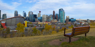 Saddledome Hockey Arena in the The City of Calgary Stock Photo