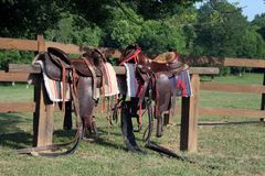 Saddles Stock Photos