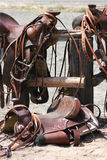 Saddles Stock Photo