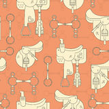 Saddles and Bits Pattern Royalty Free Stock Image