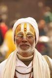 Sadhu在加德满都,尼泊尔 库存照片