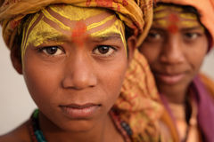 年轻sadhu在瓦腊纳西,印度 库存图片