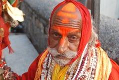 Sadhu在赫尔德瓦尔Uttarakhand印度 库存照片