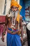 Sadhu Ινδία φιδιών στοκ εικόνα