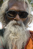 Sadhu 4. Portrait of an Indian Hindu Sadhu wearing sunglasses Stock Images