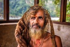 Sadhu baba (święty mężczyzna) Zdjęcie Stock