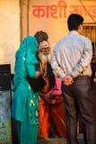 Sadhu of Baba heilige mens op ghats van de rivier van Ganges Royalty-vrije Stock Foto's