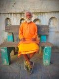 Sadhu Baba From Pashupatinath Temple Nepal fotografia de stock royalty free