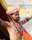 Sadhu con las gotas imágenes de archivo libres de regalías