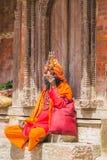 Sadhu At de Tempel in Katmandu royalty-vrije stock foto