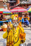 Sadhu at durbar square Stock Image