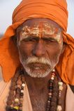 Sadhu em Rajasthan, India - novembro 2011 Foto de Stock