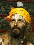 Sadhu em Shivaratri no templo do pashupatinath fotos de stock