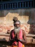 Sadhu em um templo imagens de stock royalty free