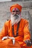 Sadhu em varanasi fotografia de stock