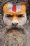 Sadhu en Pashupatinath en Nepal imagen de archivo