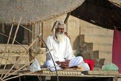 Sadhu en Varanasi Foto de archivo