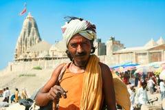 Sadhu espiritual de Shaiva del gurú (hombre santo) Foto de archivo libre de regalías
