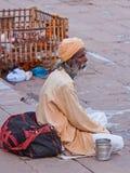 Sadhu at the Ganges Royalty Free Stock Image
