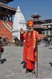 Sadhu (heilige mens) in Katmandu, Nepal stock foto's