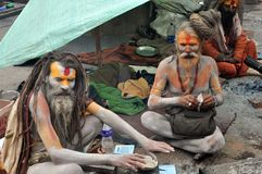 Sadhu (heilige mens) van India stock fotografie