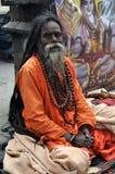 Sadhu (heilige mens) van India stock afbeeldingen