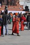 Sadhu (heiliger Mann) in Katmandu, Nepal Stockbilder
