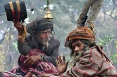 Sadhu (heiliger Mann) von Indien Stockbild