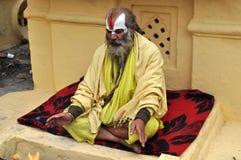 Sadhu (heiliger Mann) von Indien Stockfotos