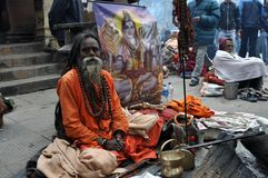 Sadhu (heiliger Mann) von Indien Stockfotografie