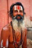 Sadhu - helig man i Varanasi royaltyfria foton