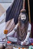 Sadhu hindú en el Kumbha Mela en la India imágenes de archivo libres de regalías