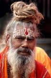 Sadhu hindú en la India imagen de archivo libre de regalías