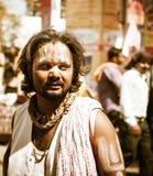 Sadhu hindú - hombres santos en el festival de Kumbha Mela en Ujjain fotos de archivo libres de regalías