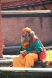 Sadhu (Hindu holy man)In Nepal. Stock Photography