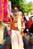A sadhu Hindu holy man in simhasth maha kumbh mela 2016, Ujjain India Stock Images