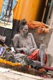 Sadhu (holy man). Portrait of hindu sadhu - Varanasi, India Royalty Free Stock Photo