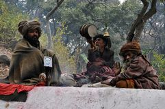 Sadhu (holy man) from India Royalty Free Stock Photos