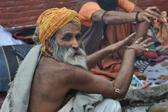 Sadhu (holy man) from India royalty free stock photos