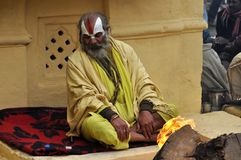 Sadhu (holy man) from India Stock Photo