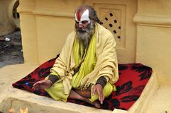 Sadhu (holy man) from India stock photos