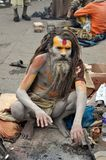 Sadhu (holy man) from India Royalty Free Stock Image