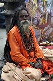 Sadhu (holy man) from India stock images
