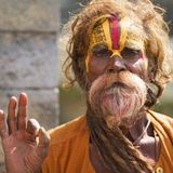 Sadhu Holy Man Kathmandu royalty free stock photography