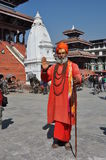 Sadhu (holy man) in Kathmandu, Nepal stock photos
