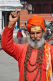 Sadhu (holy man) in Kathmandu, Nepal Stock Photography