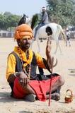 Sadhu,holy man at Pushkar fair,Rajasthan,India Royalty Free Stock Images