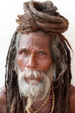 Sadhu (holy man) in Varanasi, India. Stock Photos
