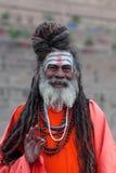 Sadhu Holy man in Varanasi, India Royalty Free Stock Photos