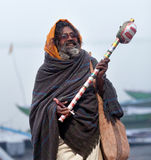 Sadhu Holy man in Varanasi, India Royalty Free Stock Photography
